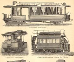 127 best railroad papers blueprints images on pinterest train 1905 antique engraving of trams streetcars and cable cars malvernweather Images