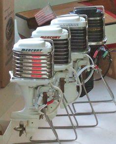 1958-78A, 1960-Merc 800, 1961-Merc 800 and 1962-Merc 1000 Mercury K&O Toy Outboard motors