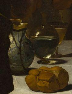 Bread in 'Supper at Emmaus' by Michelangelo da Caravaggio, 1602-1603 (National Gallery, London)