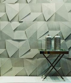Wall tiles with a difference! :) textured wall tiles by Castelatto Wall Patterns, Textures Patterns, Textures Murales, Pattern Texture, Wall Cladding, Cladding Design, Interior Walls, Interior Design Wallpaper, Modern Interior