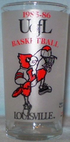 University of Louisville Glass 1985-86 Basketball Schedule