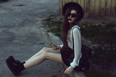 Violet E.#hipster#grunge#style#fashion#nature#GIRL#black(always follow back) ( your nix ) X :) :D