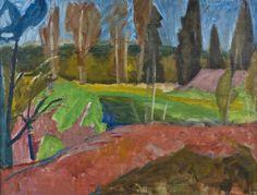 Sam Vanni: Maisema, 1946, öljy, 50 x 65 cm. Hagelstam.