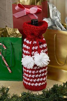 Holiday Spirits Wine crochet
