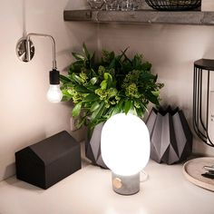 The Menu JWDA Concrete Table Lamp designed by Swedish designer Jonas Wagell. This beautiful lamp mixes the delicate glass with the material of brass. Santa Cole, Nordic Interior Design, Grey Table Lamps, Concrete Table, Oil Lamps, Lamp Design, Stockholm, Glass, Inspiration