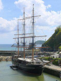Charlestown Harbour, Cornwall. UK