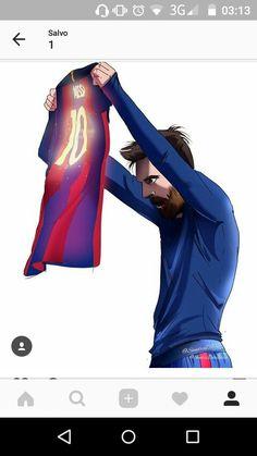 Lionel Messi Comemoração Clássico Criação de Sandra D10S...Barcelona