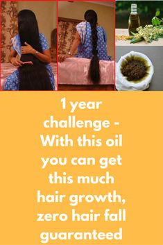 1 year challenge - With this oil you can get this much hair growth, zero hair fall guaranteed To prepare this oil you will need 1.Virgin coconut oil: 12 Tablespoons (¾ cup) 2.Sesame oil: 4 Tablespoons (¼ cup) 3.Sweet Almond oil: 2 Tablespoons 4.Castor oil: 1 Tablespoon 5.Neem oil: 1 Tablespoon 6.Water: 5 Tablespoons 7.Amla Powder: 1 Tablespoon 8.Fenugreek leaves ground: 1 Tablespoon 9.Hibiscus Dried leaves and petals of red Hibiscus ground: 1 …