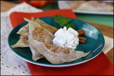 Pumpkin Pie Pot Stickers. Tried This Last Night Subbing Cream Cheese And Orange Marmalade With Ginger And Cinnamon.  Delish!
