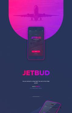 "Echa un vistazo a este proyecto @Behance:""JETBUD App."" https://www.behance.net/gallery/42687741/JETBUD-App"