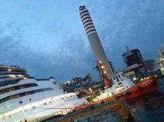 Carnival Vista si appresta questo pomeriggio ad uscire dal bacino Fincantieri a Monfalcone, per effettuare i sea-trial ufficiali...