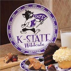 Kansas State Wildcats Ceramic Plate