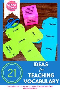 21 Fun Ideas for Teaching Vocabulary   The Gifted Guru