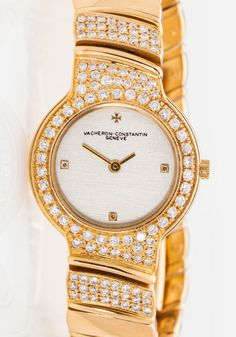 Estate $30,000 Vacheron & Constantin 5ct VS D Diamond 18k Gold Ladies Watch