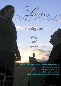 Customizable Wedding Invitation, Printable, Digital