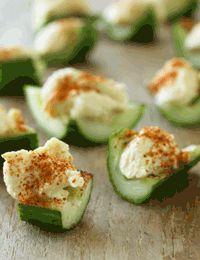 Agurk med humus