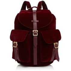 Herschel Supply Co. Dawson's Velvet Backpack ($63) ❤ liked on Polyvore featuring bags, backpacks, day pack backpack, red backpack, lightweight daypack, lightweight backpack and rucksack bags