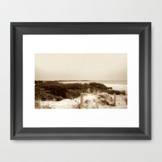 Seascape, Beach, Fencing, Path, Waves, Bird Watching Nest, Nature, Sepia, South Australia.