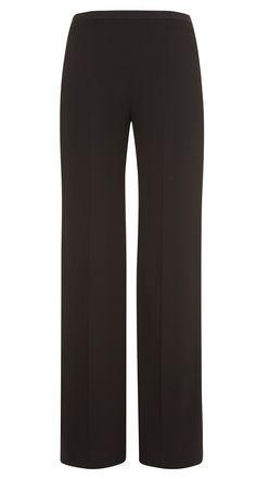 Pantalon large en crêpe envers satin