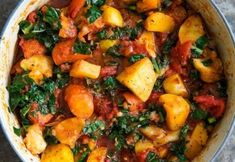 Warm up your winter with this cheerful ragout of roasted root vegetables with tomato and kale! It takes about as long to make as it does to roast the root vegetables. Kale Recipes, Vegetarian Recipes, Cooking Recipes, Healthy Recipes, Yummy Recipes, Healthy Meals, Healthy Suppers, Veggie Meals, Protein Recipes