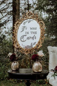 Late Fall Tarot Cards and Halloween Inspired Wedding Ideas decorations deko dresses fotoshooting hair ideas ideen Witch Wedding, Pagan Wedding, Fall Wedding, Dream Wedding, Wedding Shit, Diy Wedding, Wedding Themes, Wedding Signs, Wedding Cards