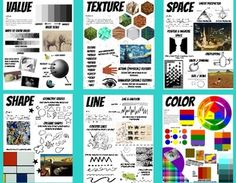 Elements of Art Posters Art Classroom Visuals Set of 7 Handouts Large Posters Art Classroom Posters, Art Room Posters, Formal Elements Of Art, Art Elements, Elements Of Art Examples, Elements Of Design, Classe D'art, Art Basics, Elements And Principles