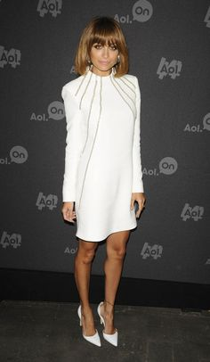 Nicole Richie looks Wonderful in White at a recent AOL digital media event