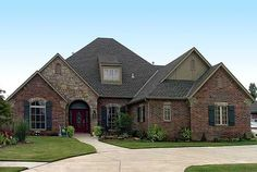 Plan W48005FM: Corner Lot, French Country, European, Photo Gallery House Plans & Home Designs