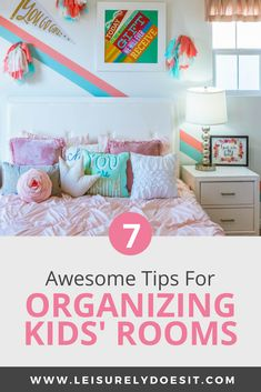 A lot happens in your kid's bedroom. You may need a reading area, a desk for homework or a space for crafts. Here are some awesome organization ideas. Kids Bedroom Organization, Home Organisation, Bedroom Storage, Organization Ideas, Organising Ideas, Kid Toy Storage, Storage Ideas, Storage Solutions, Smart Storage