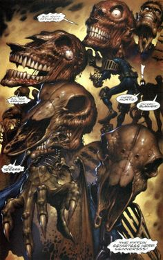 Herriman's final fate and his transformation into Judge Mortis - from Batman/Judge Dredd: Die Laughing. Art by Jim Murray.