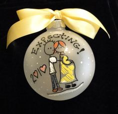 Oh my goodness, this is a cute idea for Christmas ornaments in general, not just for expecting parents
