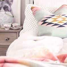 Big news for all of you guys that have been asking me about this cute, colorful throw pillow - it JUST came back in stock & it's definitely going to be gone again soon! If you have the @liketoknow.it app I linked it & the rest of my bedding & you can shop it now if you screenshot or like this pic! Yay!!! http://liketk.it/2tmvG #liketkit 💗💗💗  .  .  .  .  .  #LTKhome #homesweethome #interiordesign #interiorstyle #interiorinspo #interiorstyling #homedecor #homedesig Pastel Colour Palette, Pastel Colors, Colorful Throw Pillows, Modern Farmhouse, Farmhouse Style, Farmhouse Decor, Pink Home Decor, Big News, Interior Styling