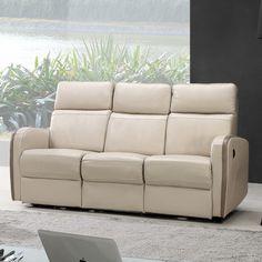Creative Furniture Argentina Power Leather Reclining Sofa