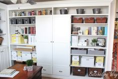 I'm done with my Office!!!!   It has officially gone from Crap Room to Craft Room!!   Can you tell I'm a little excited?   It's been a...
