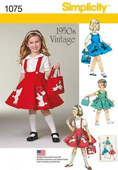 Simplicity - 1075 Vintage jurk | Naaipatronen.nl | zelfmaakmode patroon online