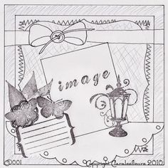 Claralesfleurs - Sketch de carte CD001