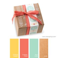 Daffodil Delight, Calypso Coral, Pool Party, Kraft #StampinUpColorCombos
