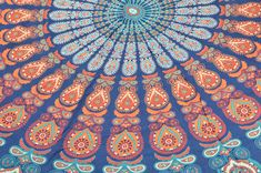 Yoga Mats & Equipment – Boho Roundie Mandala Beach Blanket 72 x 72 Inch – a unique product by IndianCraftPalace on DaWanda