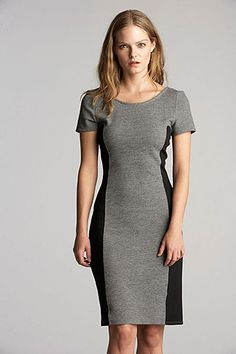 Janka Heather Ponti Colorblock Dress. Velvet by Graham & Spencer Fall 2013.