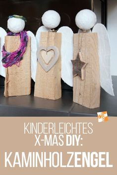 Angel made of logs: Homemade Christmas present - very easy, Angel of logs: firewood angel. Homemade Christmas present - very easy! Step-by-step instructions for Christmas crafts with a child. Homemade Christmas Presents, Homemade Gifts, Diy Gifts, Kids Christmas, Christmas Crafts, Xmas, Christmas Decorations, Crafts For Girls, Diy And Crafts