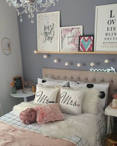 Cute Bedroom Decor, Cute Bedroom Ideas, Tumblr Bedroom, Living Room Red, Aesthetic Room Decor, Modern Wall Decor, Dream Rooms, New Room, Girls Bedroom