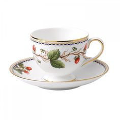 Wild Strawberry Archive Leigh Teacup and Saucer | Wedgwood