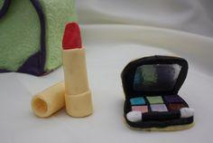 Girly Makeup Cake Charms