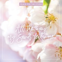 """""""All the way my Savior leads me / What have I to ask beside? / Can I doubt His tender mercy / Who through life has been my guide? / Heavenly peace, divinest comfort / Here by faith in Him to dwell / For I know whate'er befall me / Jesus doeth all things well."""" Watch the music video on our website at http://www.peaceforthestorm.com/2016/06/17/all-the-way/"""