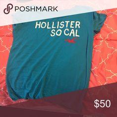 Hollister Shirt Blue Hollister Tops Tees - Short Sleeve