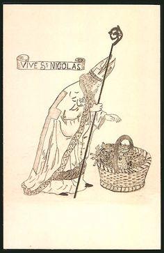 Carte illustrée : Vive St Nicolas