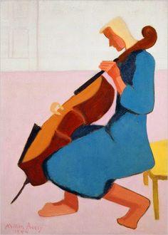 TICMUSart: Cello Player - Milton Avery (1944) (I.M.)