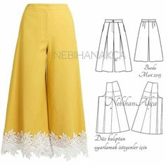 Sewing pants pattern ideas 66 ideas for 2019 Dress Sewing Patterns, Sewing Patterns Free, Clothing Patterns, Sewing Tutorials, Free Pattern, Free Sewing, Pattern Ideas, Fashion Sewing, Diy Fashion