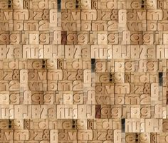 The beautiful letterpress pattern (images above) seems to be three-dimensional, an optical illusion that gives the impression that the wall consists of type blocks.