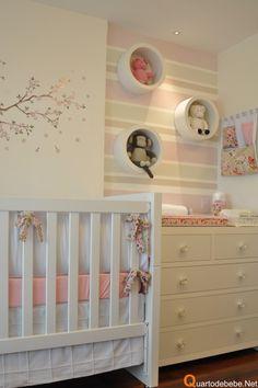Quarto de bebê rosa de menina feita pela arquiteta Leila Dionizio